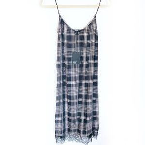 Paige Nereyda Plaid Slip Midi Dress Size XS  New